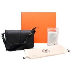Hermes Navy Epsom & Swift Leather Harnais Bag PHW