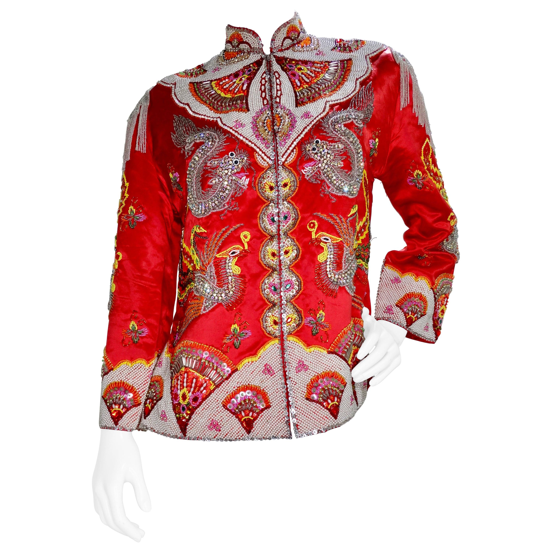 Dynasty 1960s Embellished Dragon Jacket
