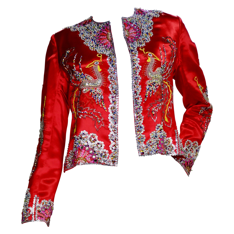 Dynasty 1960s Beaded Phoenix Jacket