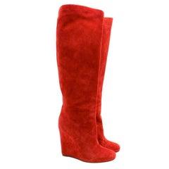 Christian Louboutin Suede Zepita Boots - Size EU 38.5