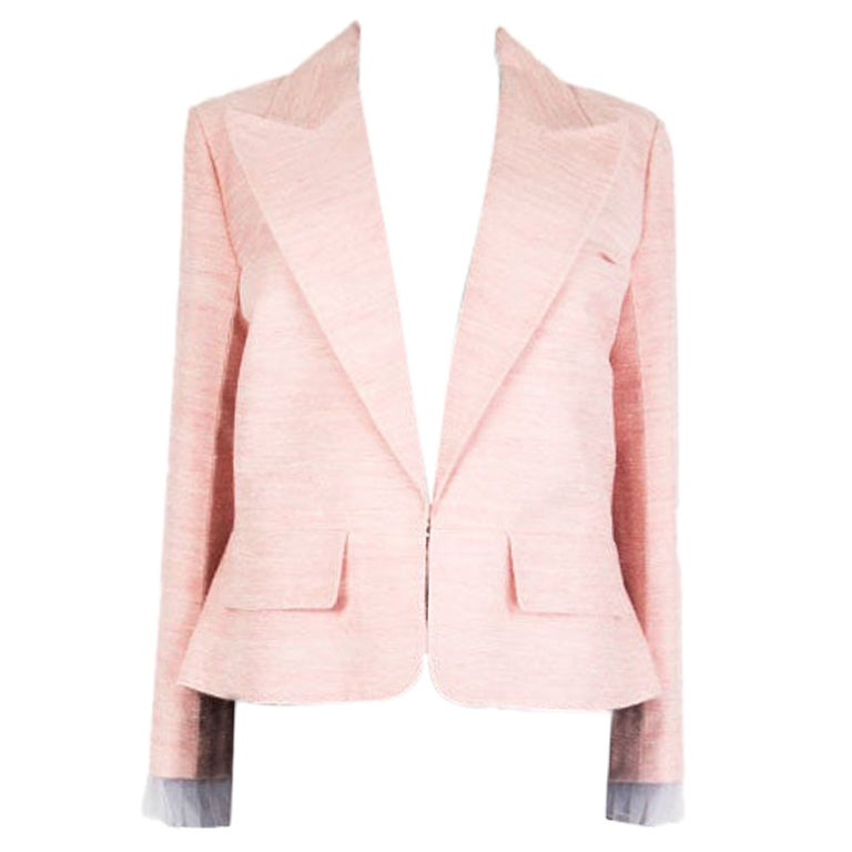 CHANEL pink silk 2017 PARIS CUBA Blazer Jacket 46 XXL 17C