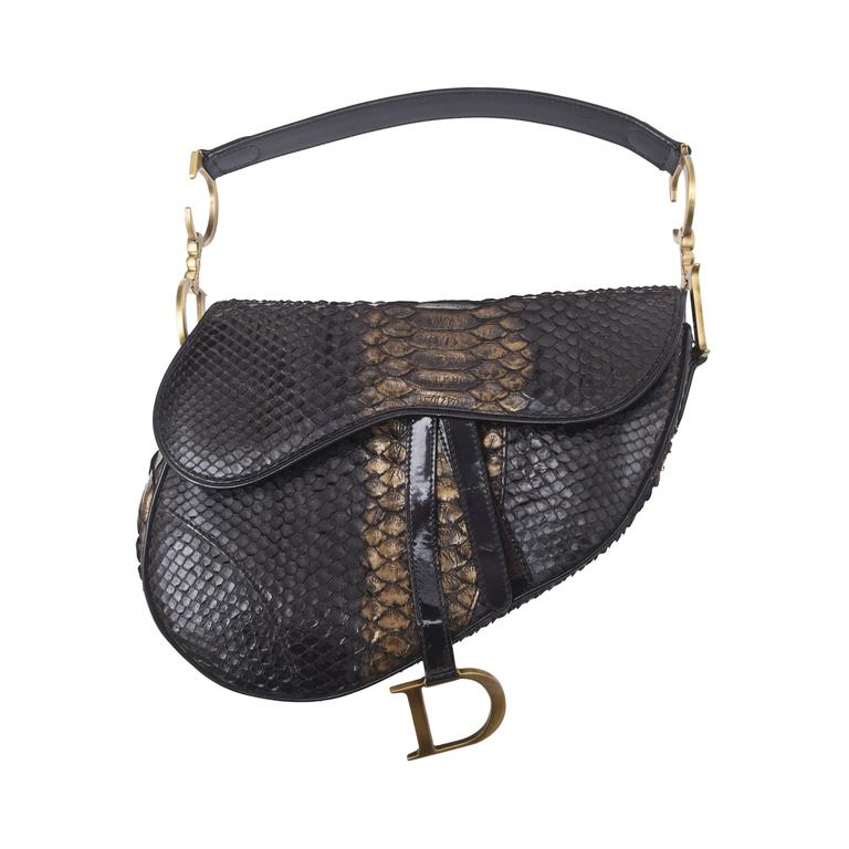 Early Limited Edition John Galliano for Christian Dior Python Saddle Bag / SALE