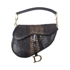 Early Limited Edition John Galliano for Christian Dior Python Saddle Bag