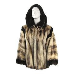 1980s Lux Russian Fitch & Mink Jacket with Detacable Hood