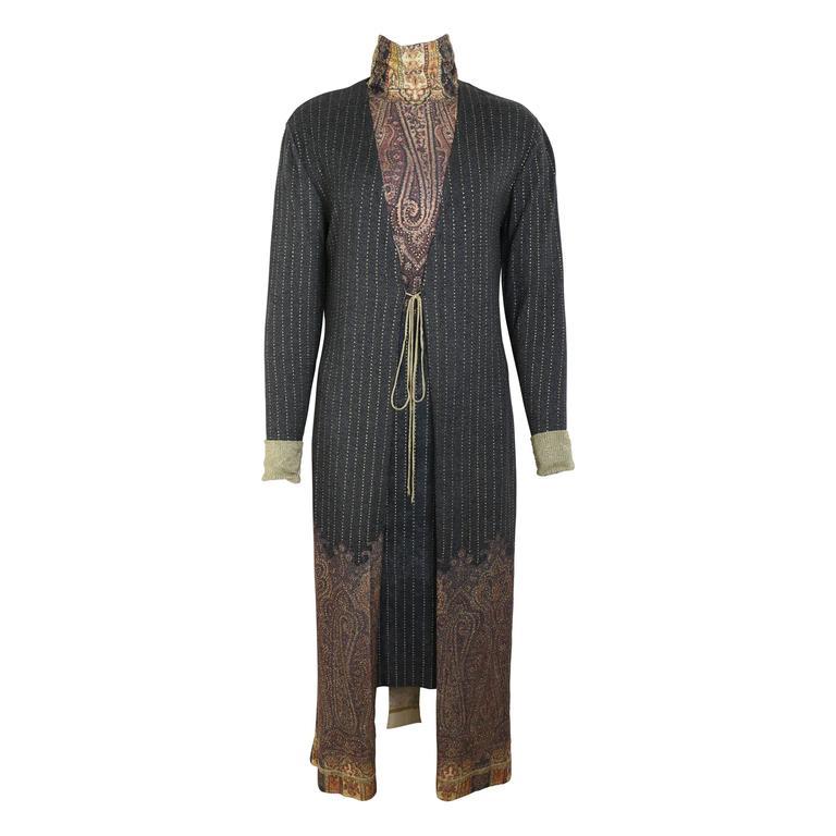 Roberto Cavalli Art Collection Dress and Long Cardigan