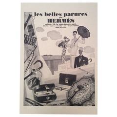 Hermes Vintage Ad Print - 1930's