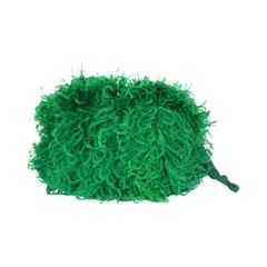 Vibrant Emerald Curled Ostrich Feather Muff