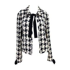 CHANEL 04A Fantasy Tweed Jacket with Bows Size 40