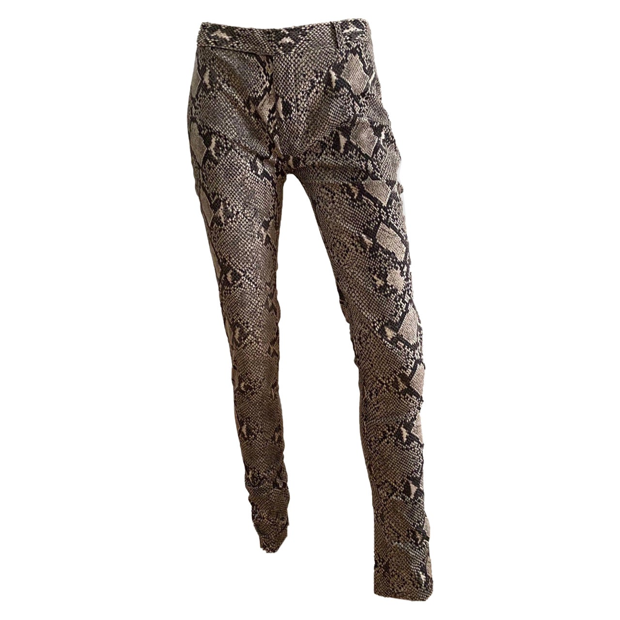 Gucci by Tom Ford S/S 2000 Python print Pants