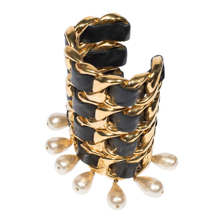 Chanel Vintage Amazing Cuff  1988-1992 For Sale