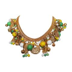 Francoise Montague Green & Yellow Pontresina Necklace