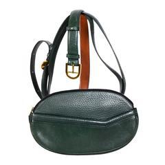 Vintage 80's DELVAUX Green Hip Bag & Belt