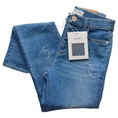 CHANEL Denim Jeans Pants  NEW With Tags   SZ 38