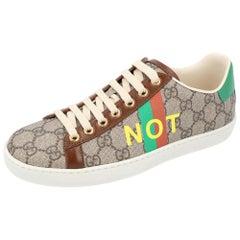 Gucci Beige/Brown GG Canvas Fake/Not Print Ace Sneaker Size EU 39