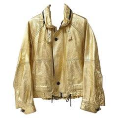 Saint Laurent Gold leather jacket