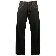 JUNYA WATANABE Size 34 Black Gold Contrast Stitch Jeans