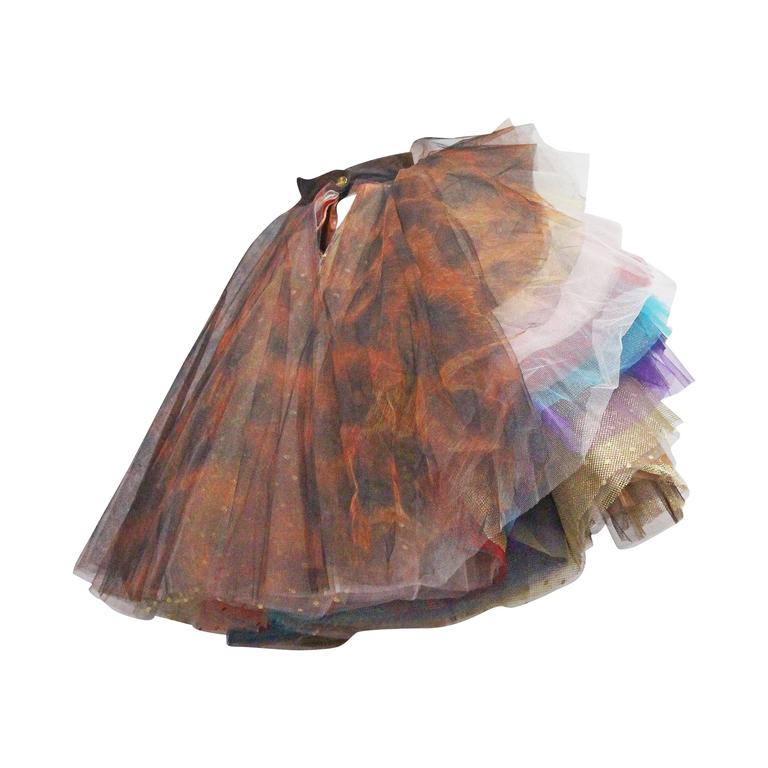 Vivienne Westwood Super voluminous layered tulle skirt, c. 1993  For Sale