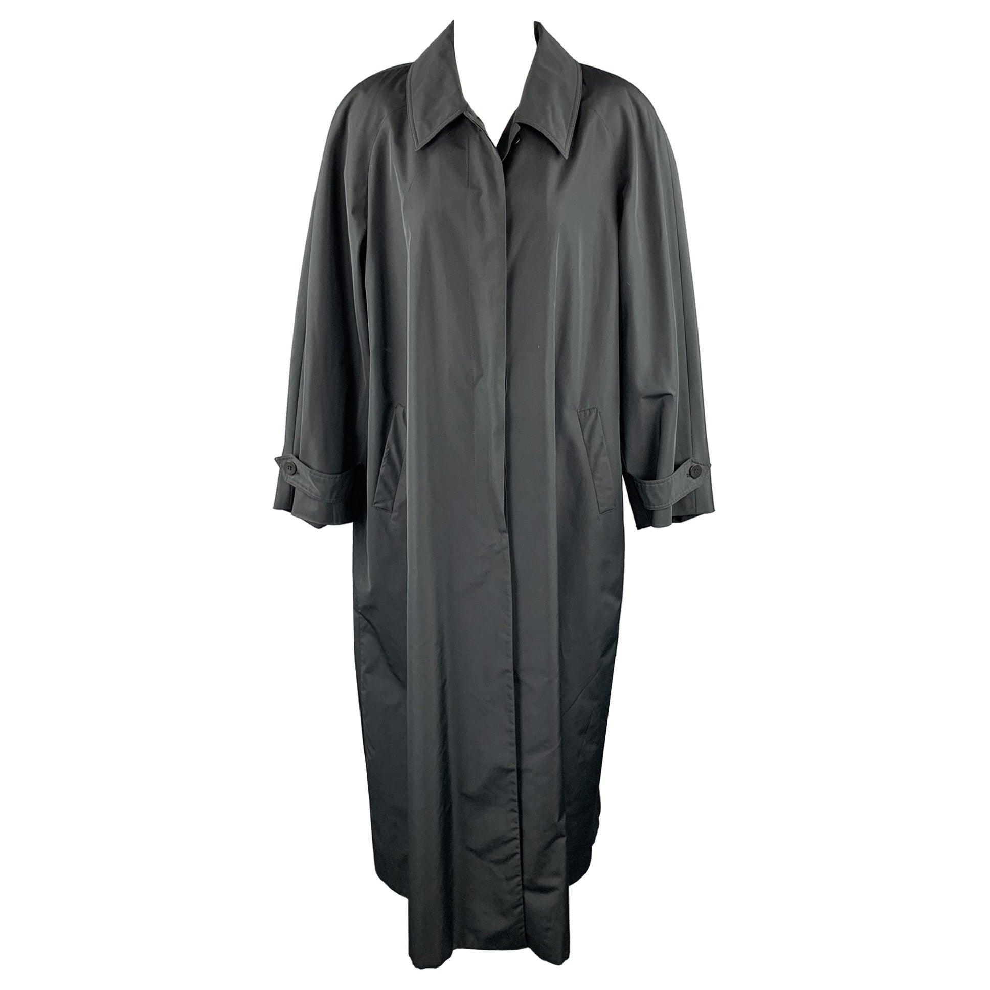 JOAN & DAVID Size 8 Black Polyester / Silk Long Coat