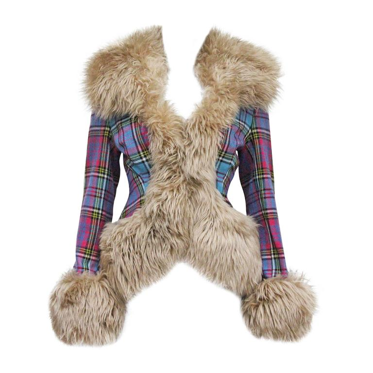 Vivienne Westwood tartan and sheepskin jacket, c. 1993  1