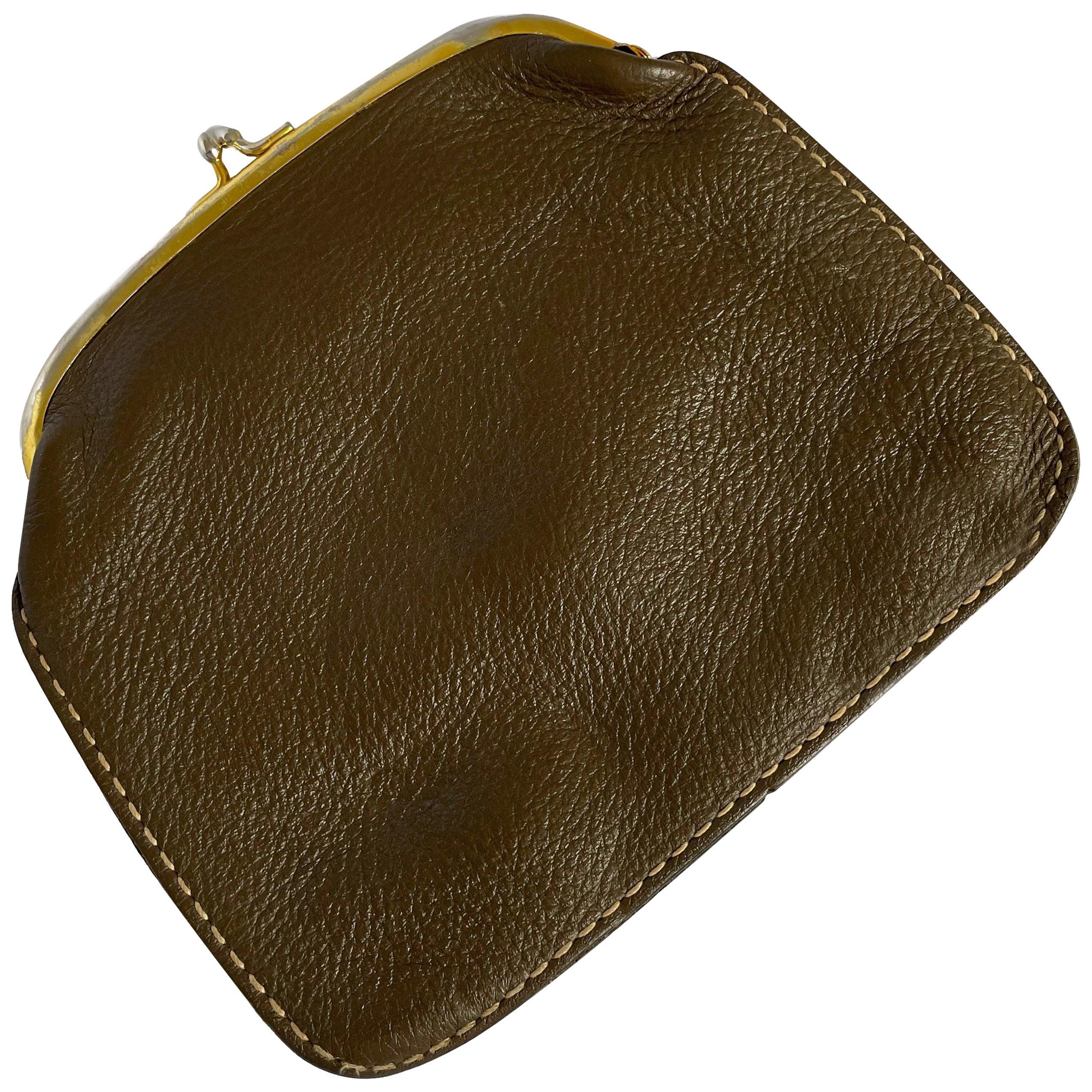 Bonnie Cashin for Coach Pouch Wallet Cashin Carry Kiss Lock Coin Purse HTF Mocha