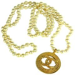 Endless Chanel Logo Pearls