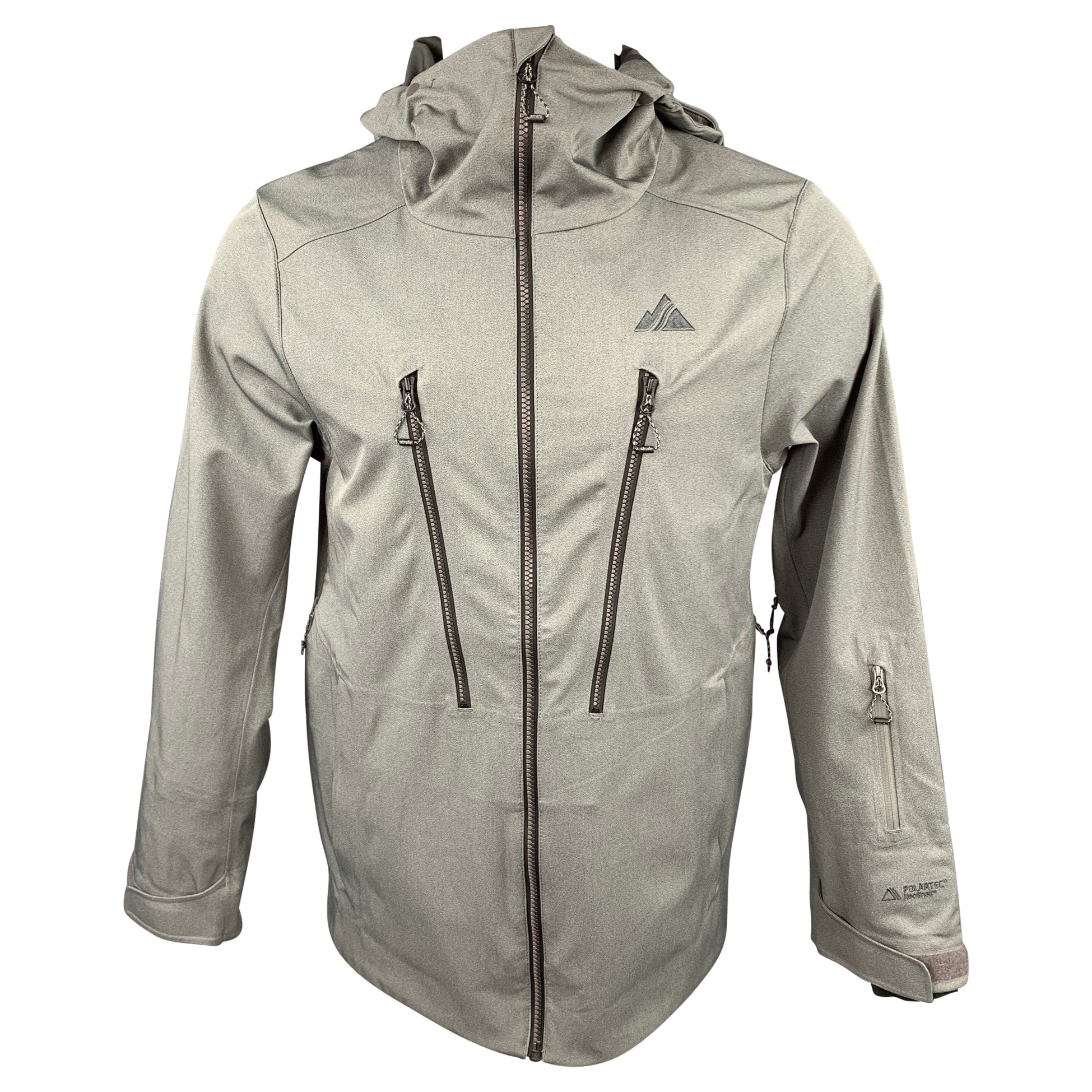 STRAFE Polartec Size S Grey Waterproof Polyester Hooded Jacket