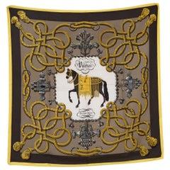 Hermes Palefroi by Francoise de la Perriere Silk Scarf