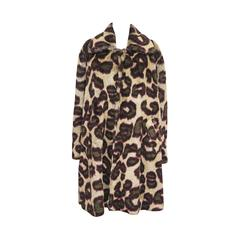 Vivienne Westwood Men's faux fur cheetah print coat, c. 1989
