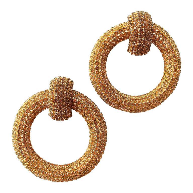 Spectacular Roger Jean-Pierre hoop earrings, 1960s 1