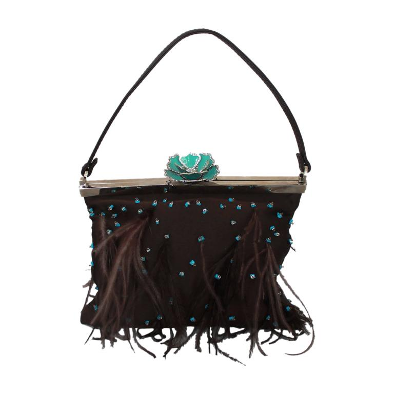 1stdibs Patrick Sweeney White And Teal Sequin Bag 9hVy804y
