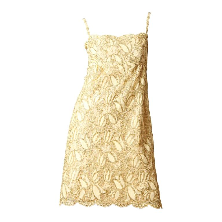 Shannon Rogers I.Magnin Lace Cocktail Dress 1