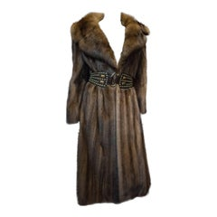 Mink and Sable Trimmed Fur Coat