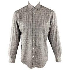 RALPH LAUREN Size M Black & White Plaid Cotton Long Sleeve Shirt