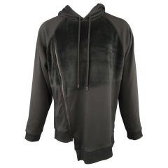 D.GNAK by KANG D. Size M Asymmetrical Jersey & Fleece Hoodie Sweatshirt