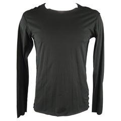 ATTACHMENT Size L Black Cotton Long sleeve T-Shirt
