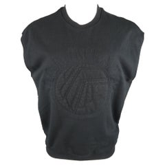 3.1 PHILLIP LIM Size XS Black Embroidery Cotton Sleeveless Pullover Sweater