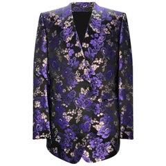 Rare 2014 Look #27 Tom Ford Silk Iridescent Floral Jacquard Jacket