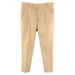 PHILLIP LIM Size 28 Khaki Cotton Blend Tab Front Casual Pants