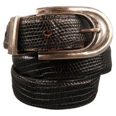 PAT AREIAS Sterling Size 32 Black Belt