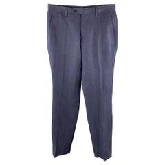 JOHN VARVATOS Size 30 x 30 Navy Cotton Tab Waist Casual Pants
