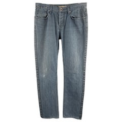 JOHN VARVATOS * U.S.A. Size 31 x 34 Solid Navy Cotton Jeans