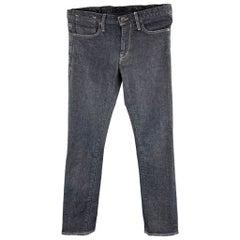 JOHN VARVATOS * U.S.A. Size 33 Indigo Cotton Zip Fly Jeans