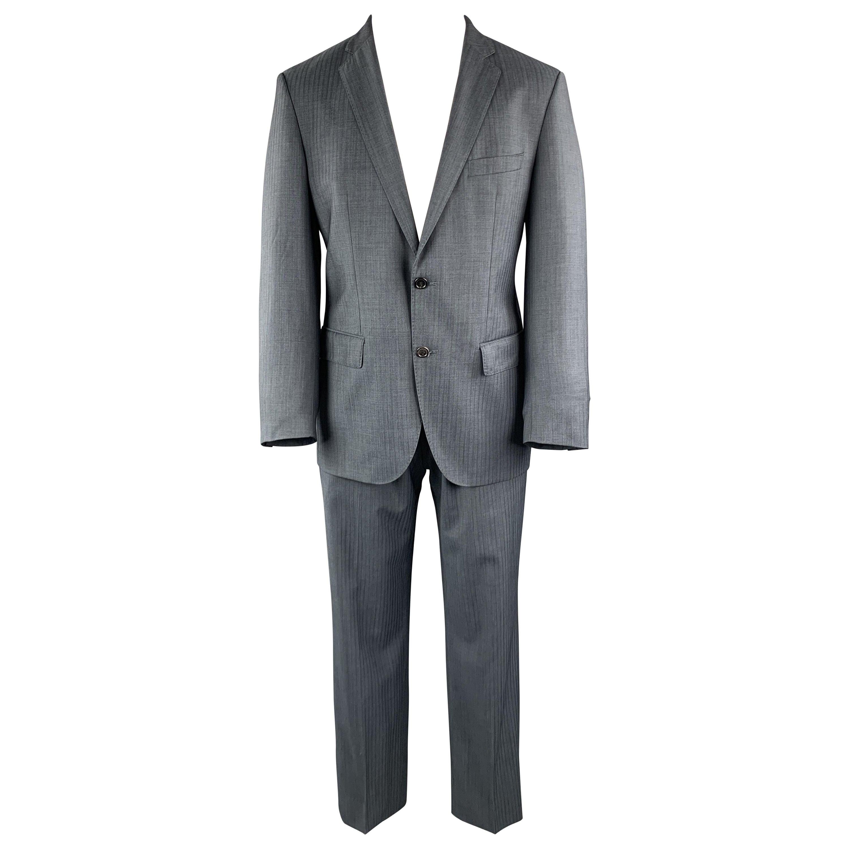 HUGO BOSS 38 Navy Lana Wool Notch Lapel 32 x 30 Suit