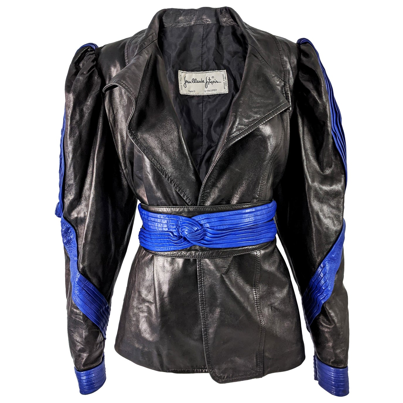 Jean Claude Jitrois Incredible Vintage Leather Jacket 1980s
