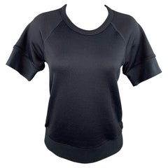 JAMES PERSE Size S Charcoal Cotton Blend Crew-Neck Short Sleeve T-shirt