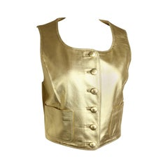Chanel Gold Leather Vest