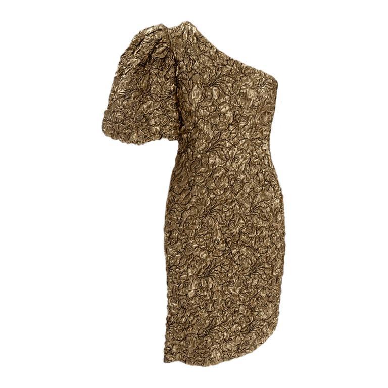 Yves Saint Laurent Blistered Silk Cocktail Dress