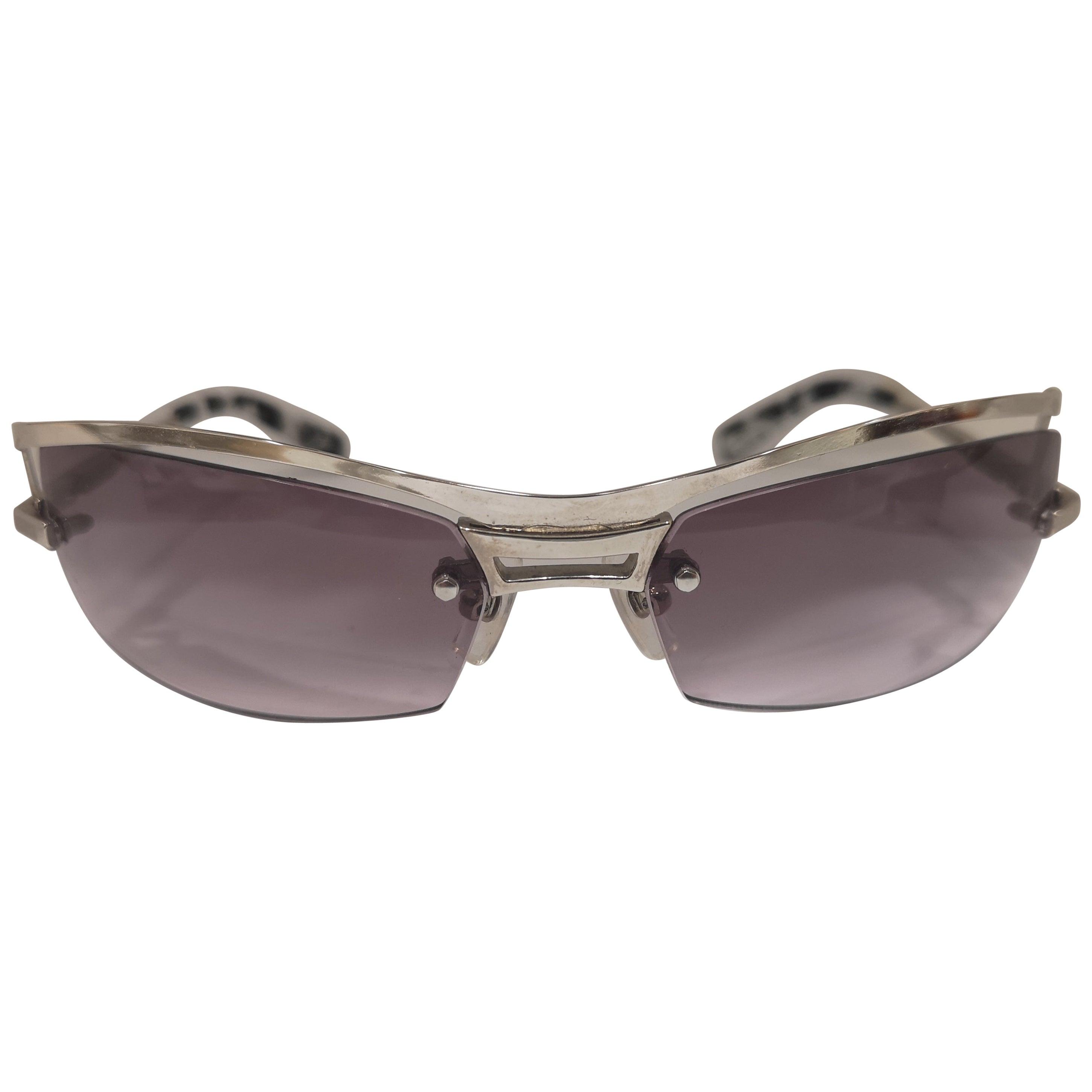 Lessthanhuman purple lens silver sunglasses