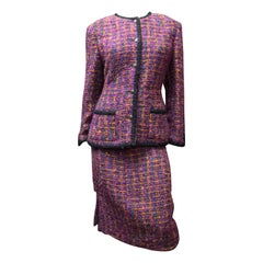 1980s Chanel Two Piece Knit Suit