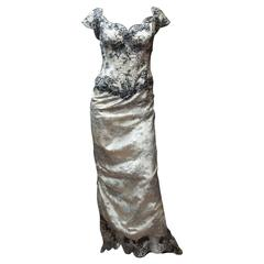 Vicky Tiel Corseted Evening Gown